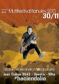 cartel del Multifestival Banuev 2013