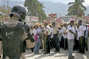 protestas en Haití contra el Gobierno