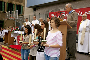 celebración de religiosos en Cataluña