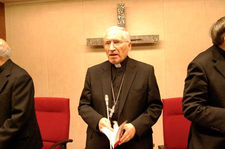 El cardenal Rouco, hoy durante la sesión inaugural de la Plenaria