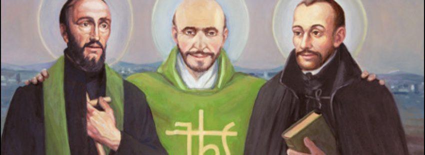 San Francisco, san Ignacio y Pedro Fabro, fresco en el colegio jesuita San Luis, en El Puerto de Santa María, Cádiz