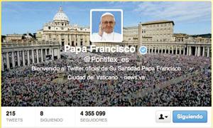 cuenta oficial del papa Francisco en Twitter