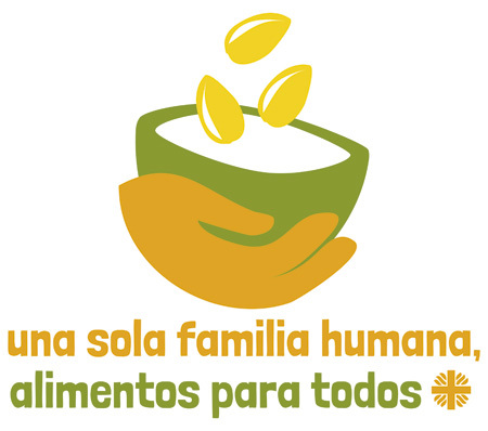 logo de la campaña Una sola familia humana, alimentos para todos