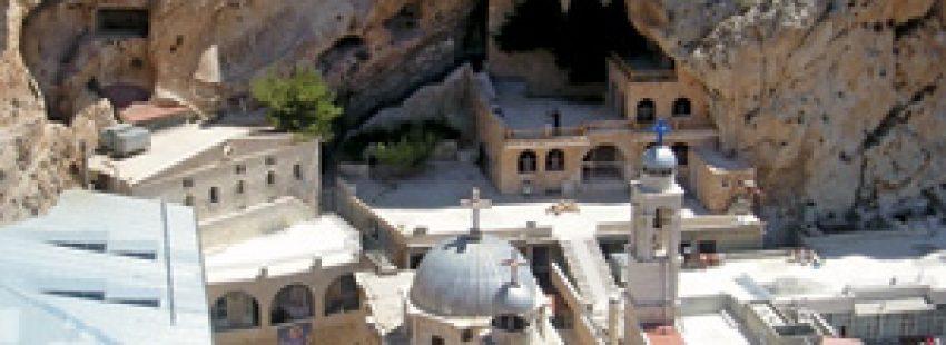 monasterio greco-ortodoxo en la ciudad de Malula, Siria