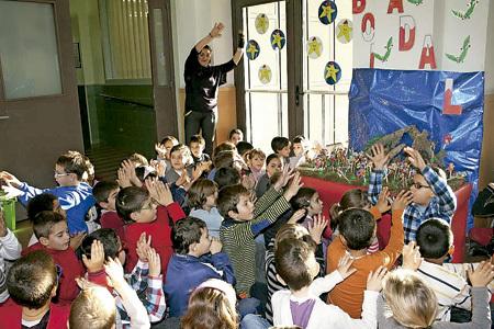 celebración de la Navidad en una escuela de Badalona