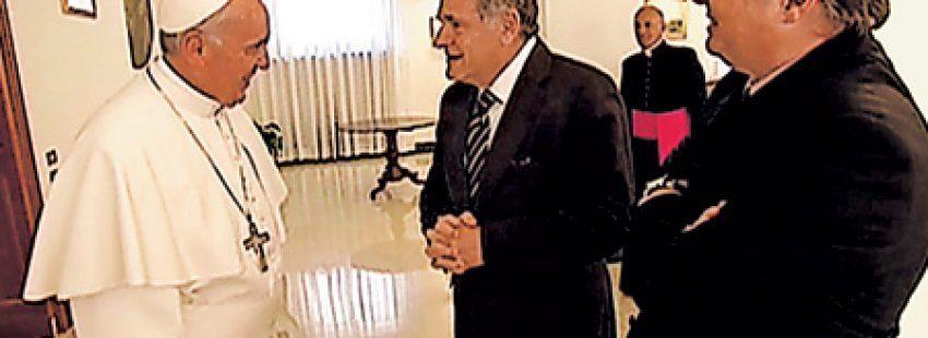 papa Francisco con el rabino argentino Abraham Skorka
