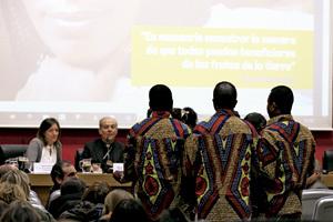 presentación en Madrid de la campaña campaña Una sola familia humana, alimentos para todos, de Caritas Internationalis y el papa Francisco contra el hambre en el mundo