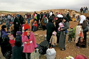 refugiados sirios tras la guerra civil