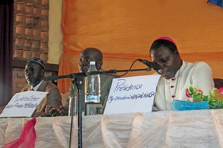 líderes religiosos en Centroáfrica en un acto por la paz en Bangui