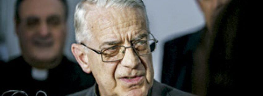 Federico Lombardi, jesuita, portavoz de la Santa Sede, en una conferencia en Toledo