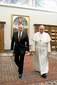 papa Francisco y Vladimir Putin, presidente de la Federación Rusa, 25 noviembre 2013