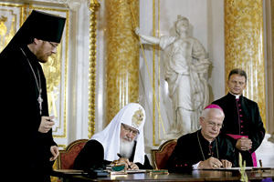 visita del patriarca ortodoxo Kirill a Polonia en 2012