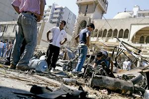 bombardeo contra la mezquita de Trípoli en Líbano