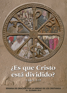 cartel para la celebración de la Semana de Oración para la Unidad de los Cristianos 2014