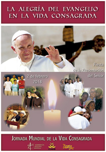 cartel para la Jornada de la Vida Consagrada 2014