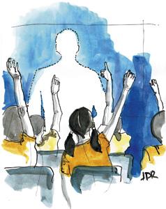 ilustración de Jaime Diz para artículo de Francesc Torralba 2878