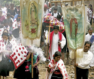 misa de indígenas en Chiapas