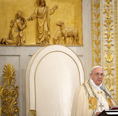 papa Francisco clausura la Semana de Oración por la Unidad de los Cristianos San Pablo Extramuros 25 enero 2014