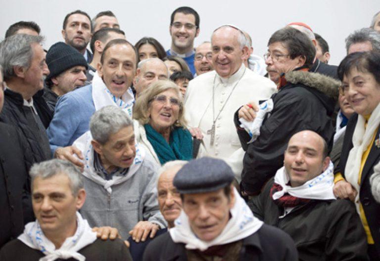 papa Francisco visita parroquia romana del Sagrado Corazón de Jesús donde atienden a pobres y vagabundos 19 enero 2014