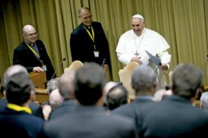 encuentro del papa Francisco con los miembros de la USG diciembre 2013