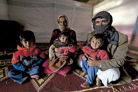 familia de refugiados sirios en Líbano
