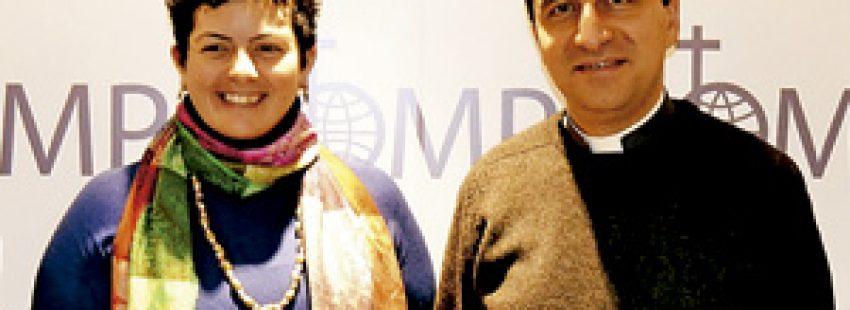 Nada Hajjar y Paul Karam, responsables de OMP Líbano