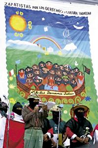 acto a favor de los zapatistas en Guanajuato, 2001