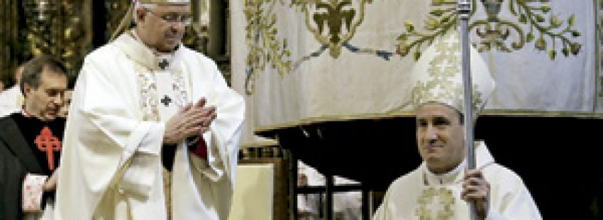 Jesús Fernández González, nuevo obispo auxiliar de Santiago de Compostela, en su ordenación episcopal 8 febrero 2014
