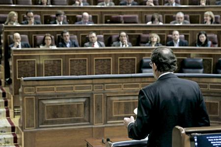 políticos españoles en sesión en el Congreso de los Diputados