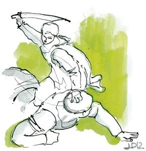 ilustración de Jaime Diz para el artículo de Francisco Vázquez 2884