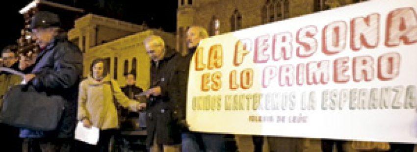 jornada de Oración por las víctimas de la crisis en León enero 2014