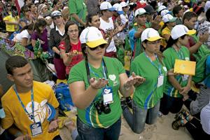 jóvenes participantes en la JMJ de Río 2013