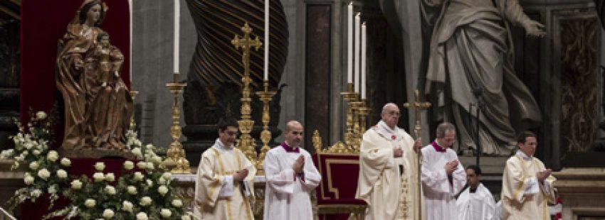 papa Francisco preside celebración en la Basílica de San Pedro Jornada de la Vida Consagrada 2 febrero 2014
