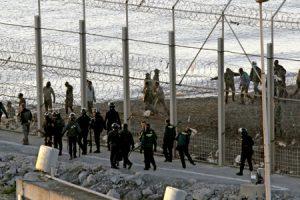 lugar en la frotera en Ceuta donde fallecieron 15 inmigrantes