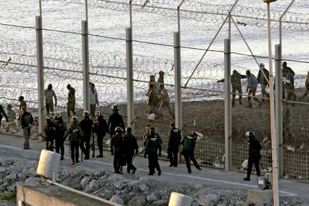 lugar en la frontera en Ceuta donde fallecieron 15 inmigrantes
