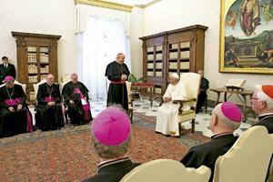 visita ad limina de los obispos de Austria con el papa Francisco febrero 2014