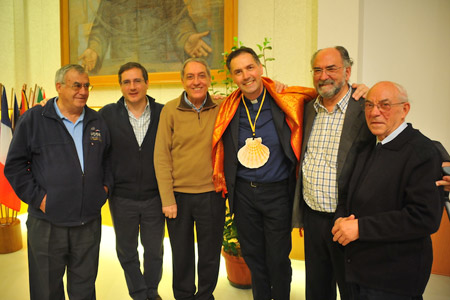 Ángel Fernández Artime, nuevo rector mayor de los salesianos, con los padres capitulares de la Inspectoría de Santiago el Mayor en León