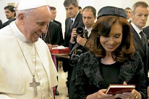 papa Francisco recibe en audiencia a Cristina Fernández, presidenta de Argentina, 17 marzo 2014