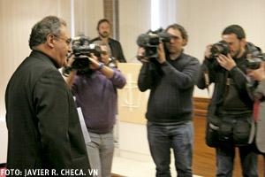 José María Gil Tamayo secretario general y portavoz de la CEE en rueda de prensa después de la Asamblea Plenaria de los obispos españoles marzo 2014