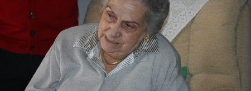 Lucy Lozano Garrido, hermana del beato Lolo, fallecida en 2014
