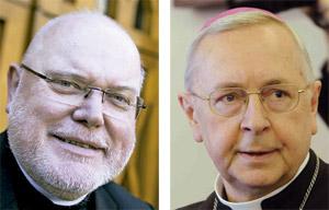 cardenal Reinhard Marx y arzobispo Stanislaw Gadecki, presidentes de los Episcopados de Alemania y Polonia marzo 2014