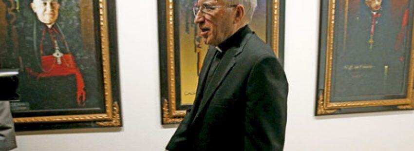 cardenal Antonio María Rouco Varela, arzobispo de Madrid y presidente de la Conferencia Episcopal Española en Añastro