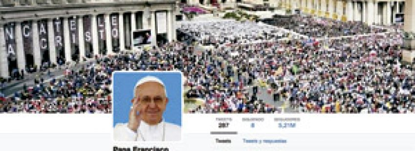 cuenta del papa Francisco en Twitter marzo 2014