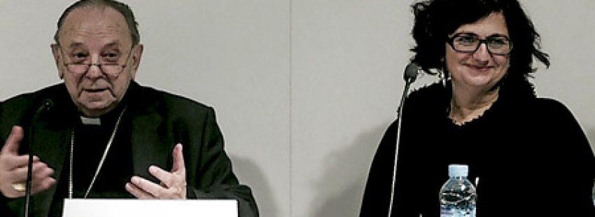 Juan María Uriarte y Rosa Lluch en la presentación del libro La reconciliación
