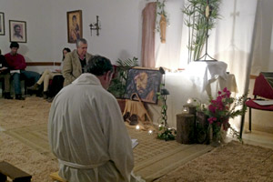 contemplación en un retiro espiritual durante la Cuaresma