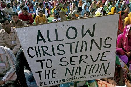 cristianos en la India