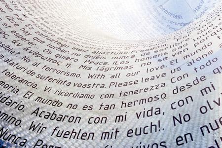 monumento homenaje a las víctimas de los atentados del 11-M en Madrid