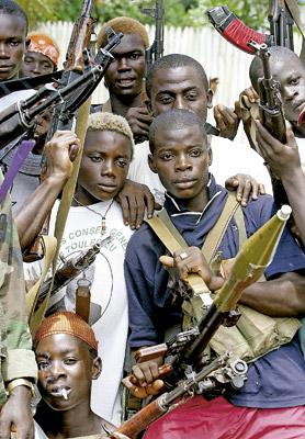niños soldado en Liberia