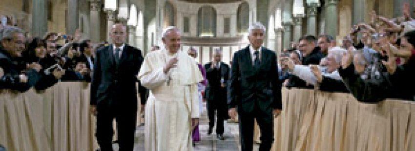 papa Francisco en la Misa de Miércoles de Ceniza en la basílica de Santa Sabina 5 marzo 2014