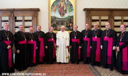 obispos españoles en visita ad limina con el papa Francisco primer grupo 24 febrero 2014